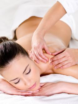 woman receiving massage in Los Altos, CA